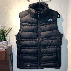 North Face Men's 550 Black Down Puffer Vest